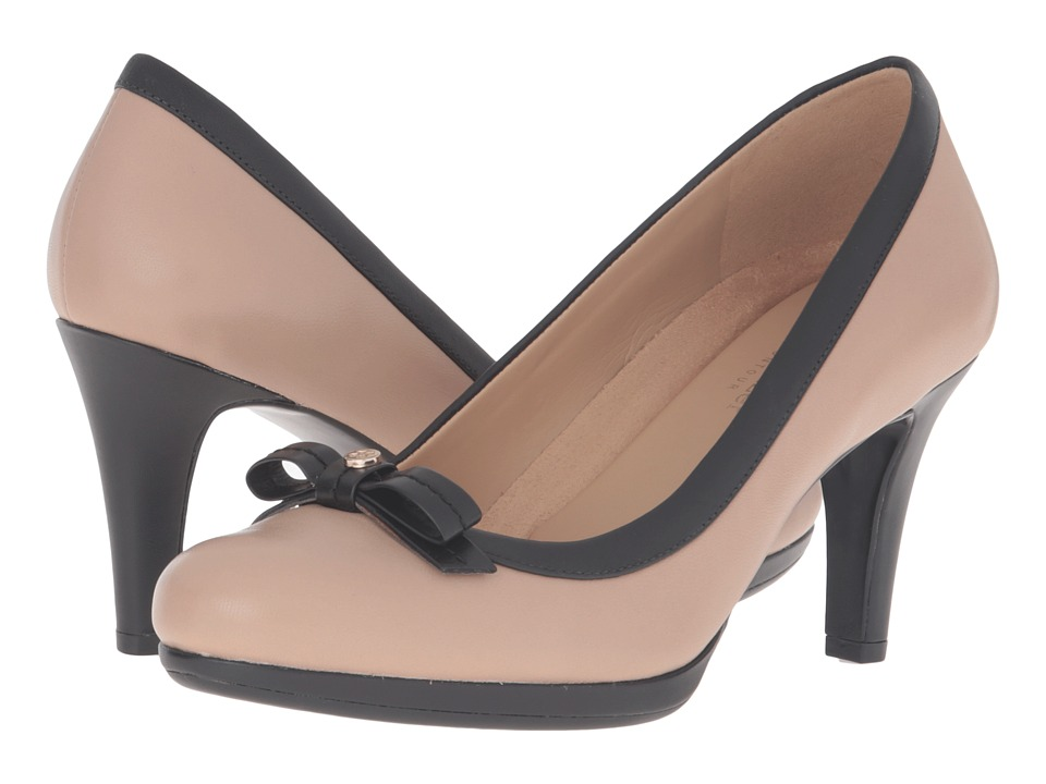 Naturalizer - Maizie (Mocha Taupe/Black Leather) High Heels