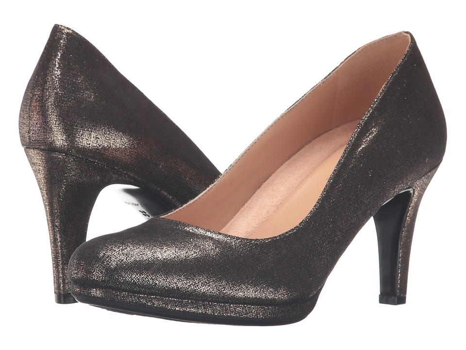 Naturalizer - Michelle (Black/Gold Metallic) High Heels
