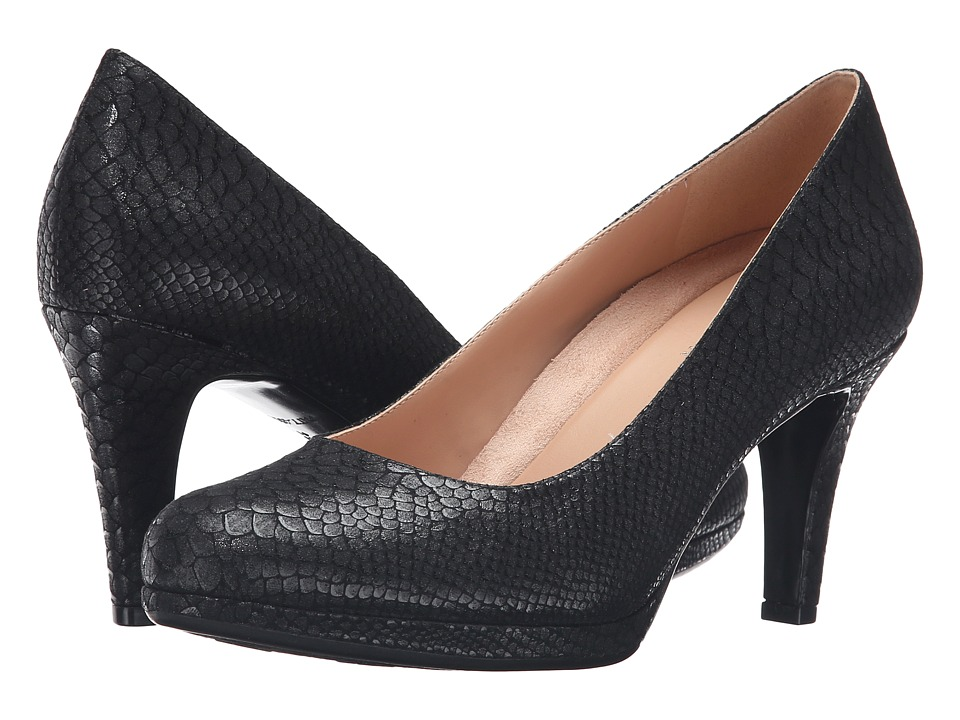 Naturalizer - Michelle (Black Printed Snake) High Heels