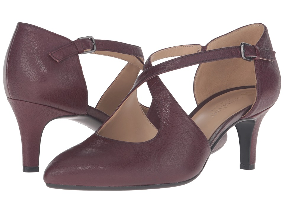 Naturalizer - Okira (Bordo Leather) Women's 1-2 inch heel Shoes