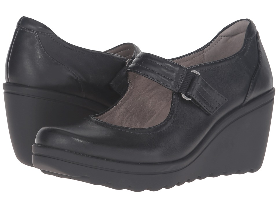 Naturalizer - Quillian (Black Leather) Women's Wedge Shoes