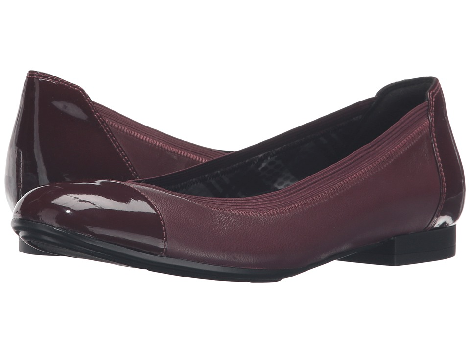 Naturalizer - Therese (Bordo Leather/Shiny) Women's Shoes
