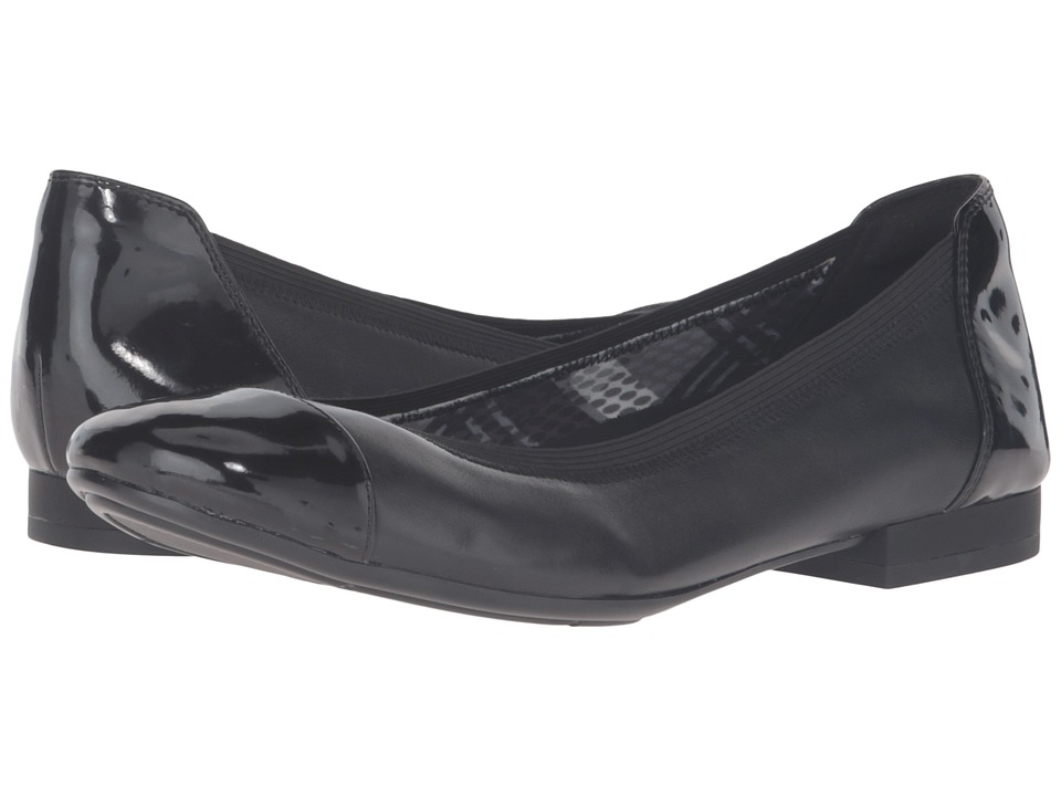 Naturalizer - Therese (Black Leather/Shiny) Women's Shoes