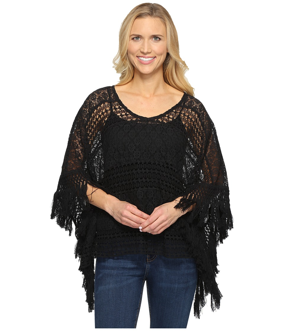 Ariat - Lace Poncho (Black) Women's Sweater
