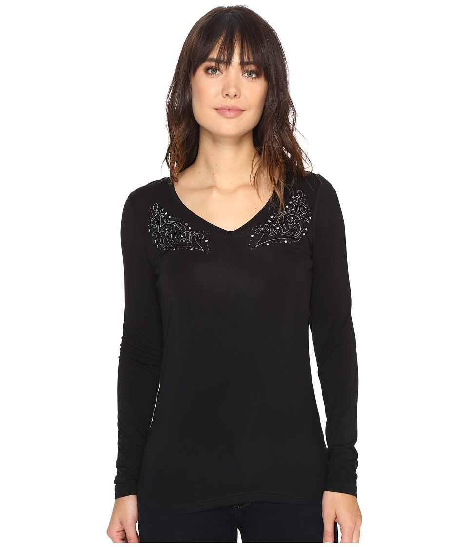 Ariat - Kass Top (Black) Women's Long Sleeve Pullover