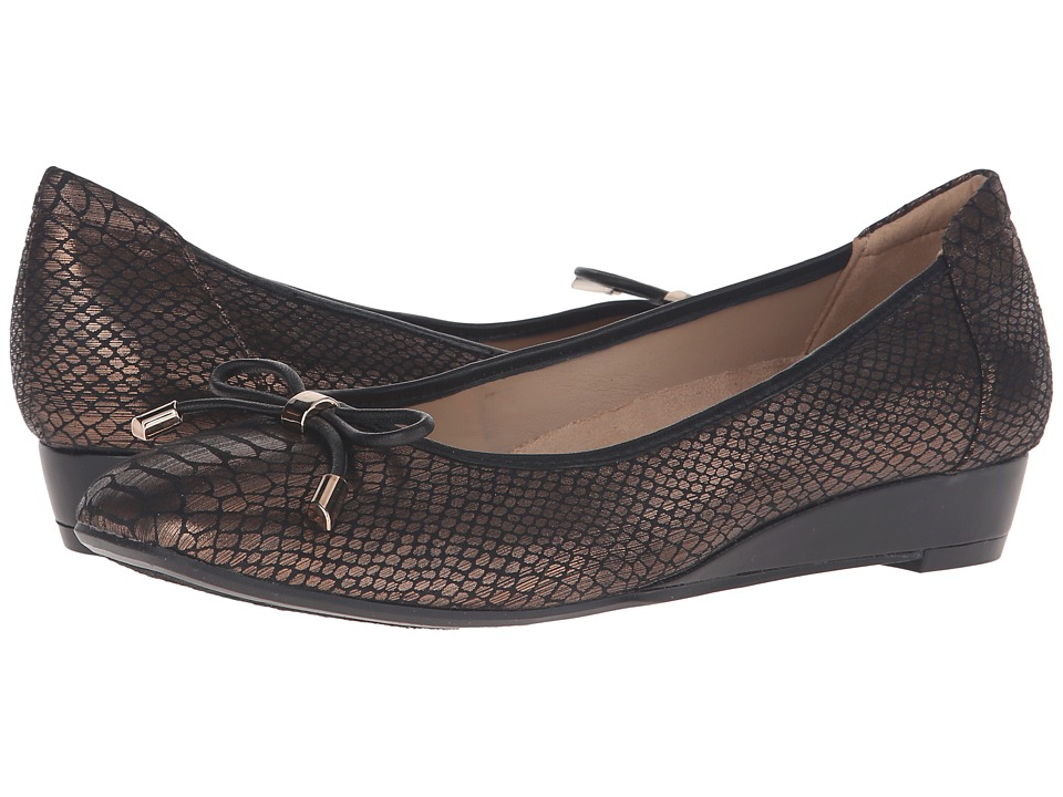 Naturalizer - Dove (Bronze Printed Snake) Women's Wedge Shoes