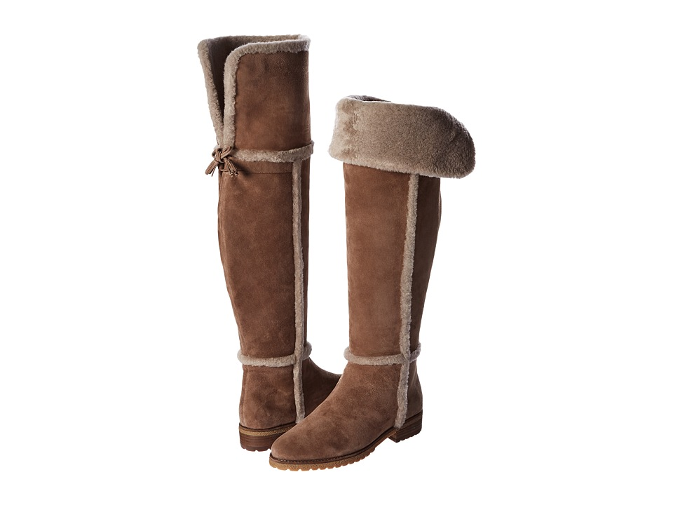 Frye - Tamara Shearling Over The Knee (Taupe Water Resistant Suede/Shearling) Women's Pull-on Boots