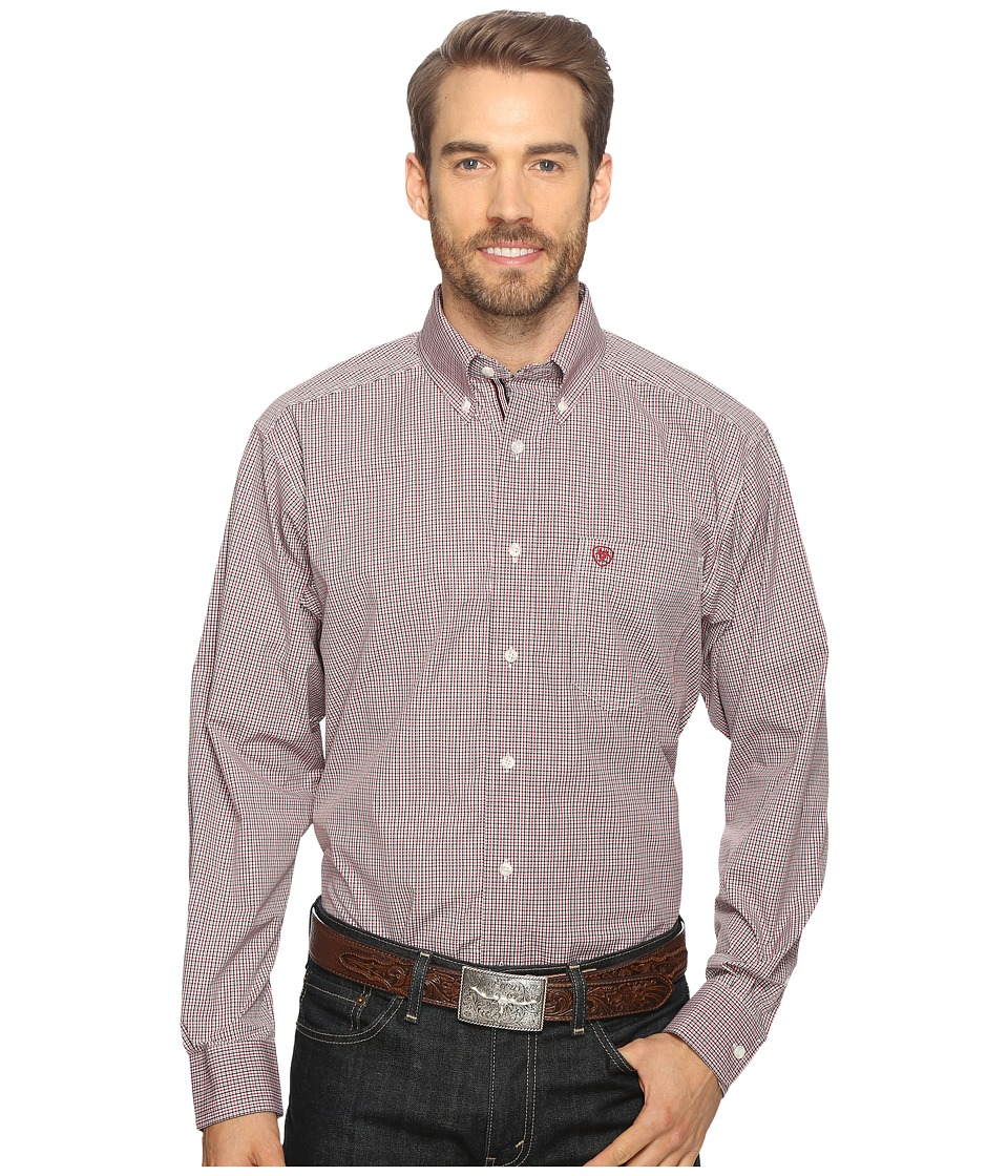 Ariat - Thompson Shirt (Black) Men's Long Sleeve Button Up