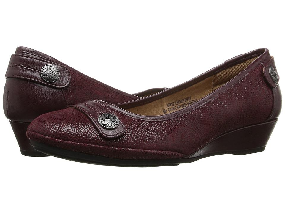 Comfortiva - Anne (Bordeaux/Merlot) Women's Wedge Shoes