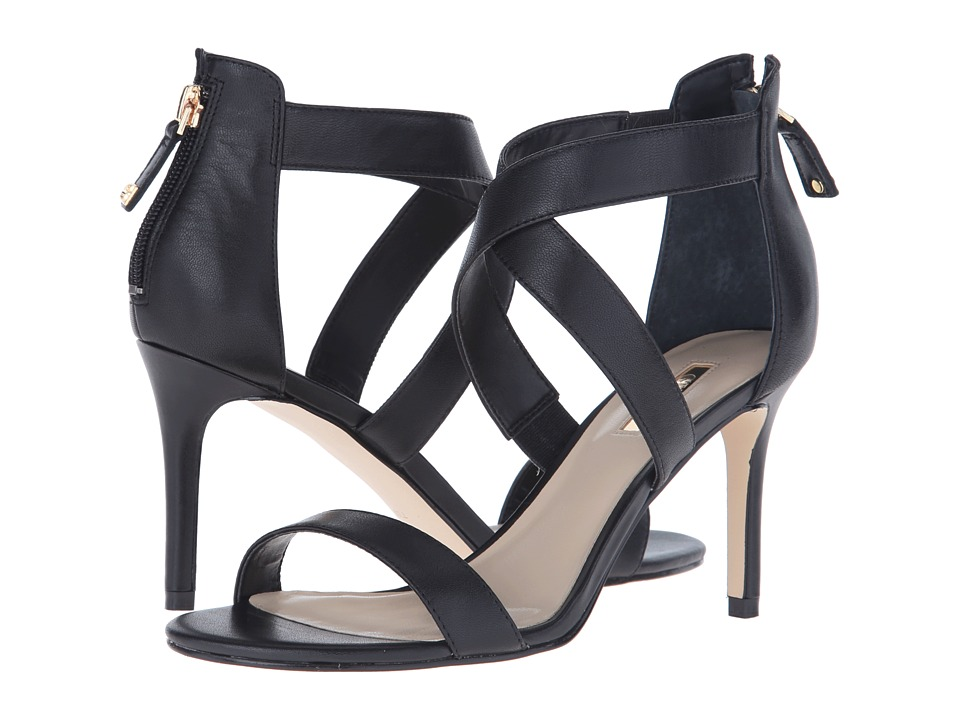 GUESS Cayan (Black Leather) High Heels