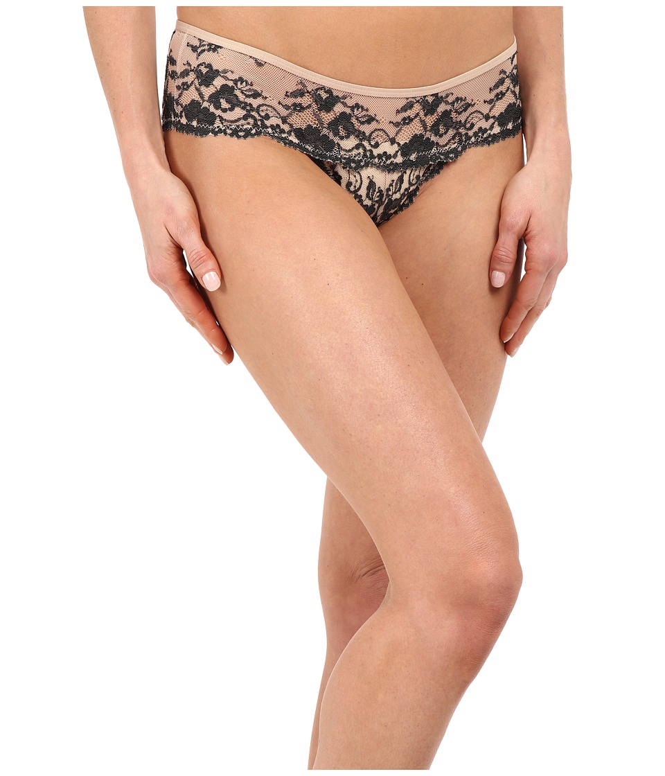 Free People - Wild Roses Hipster Undie (Champagne/Black Combo) Women's Underwear