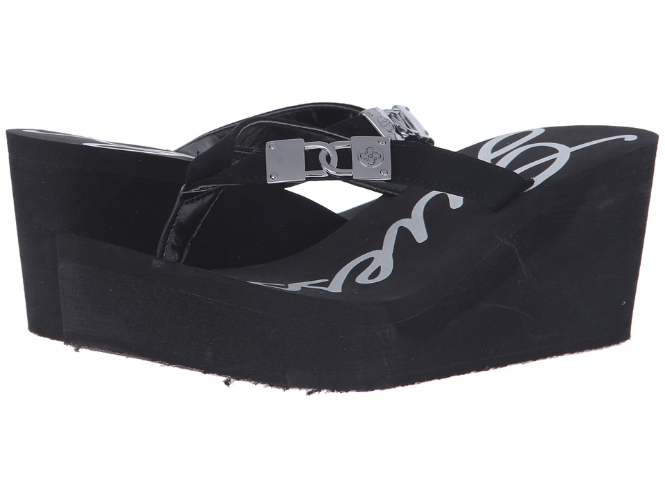 GUESS - Sahari (Black EVA) Women's Wedge Shoes