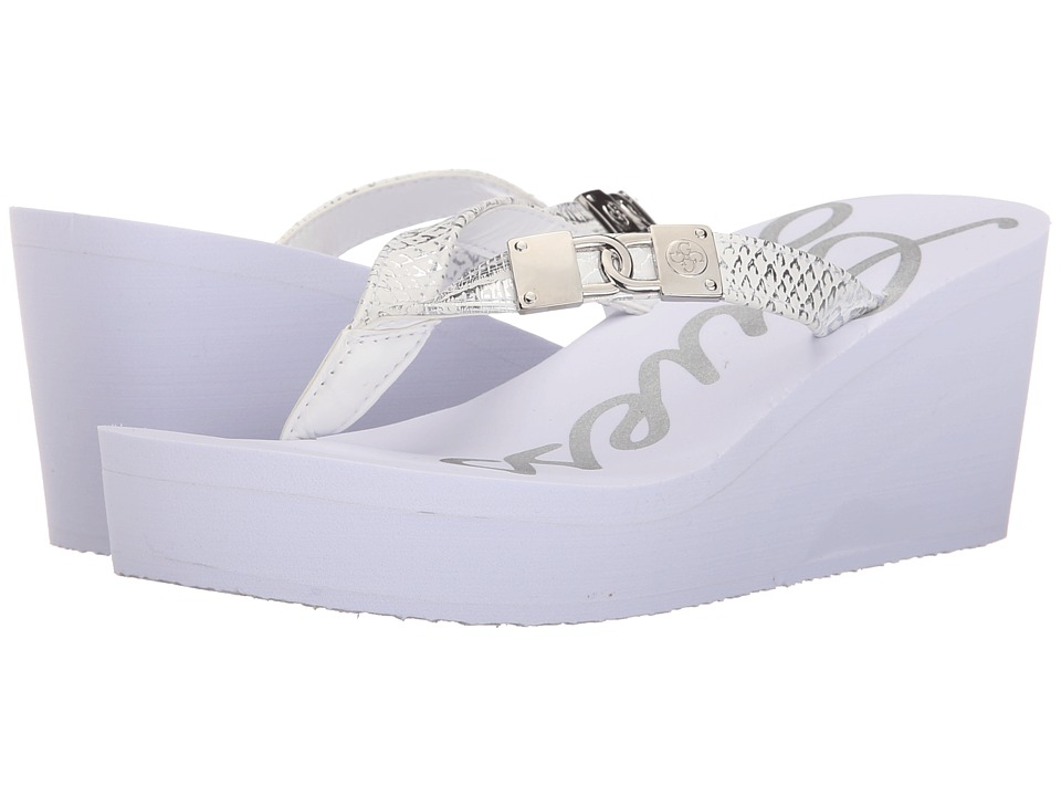 GUESS - Sahari (White Eva) Women's Wedge Shoes