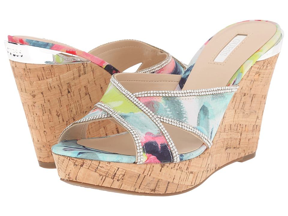 GUESS - Eleonora (Multi Fabric) Women's Wedge Shoes