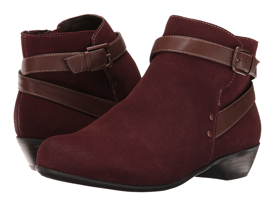 Comfortiva - Ryder (Berry/Drum Brown) Women's Pull-on Boots