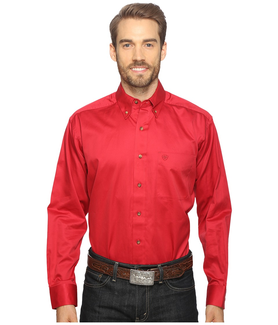 Ariat - Solid Twill Shirt (Rouge) Men's Long Sleeve Button Up