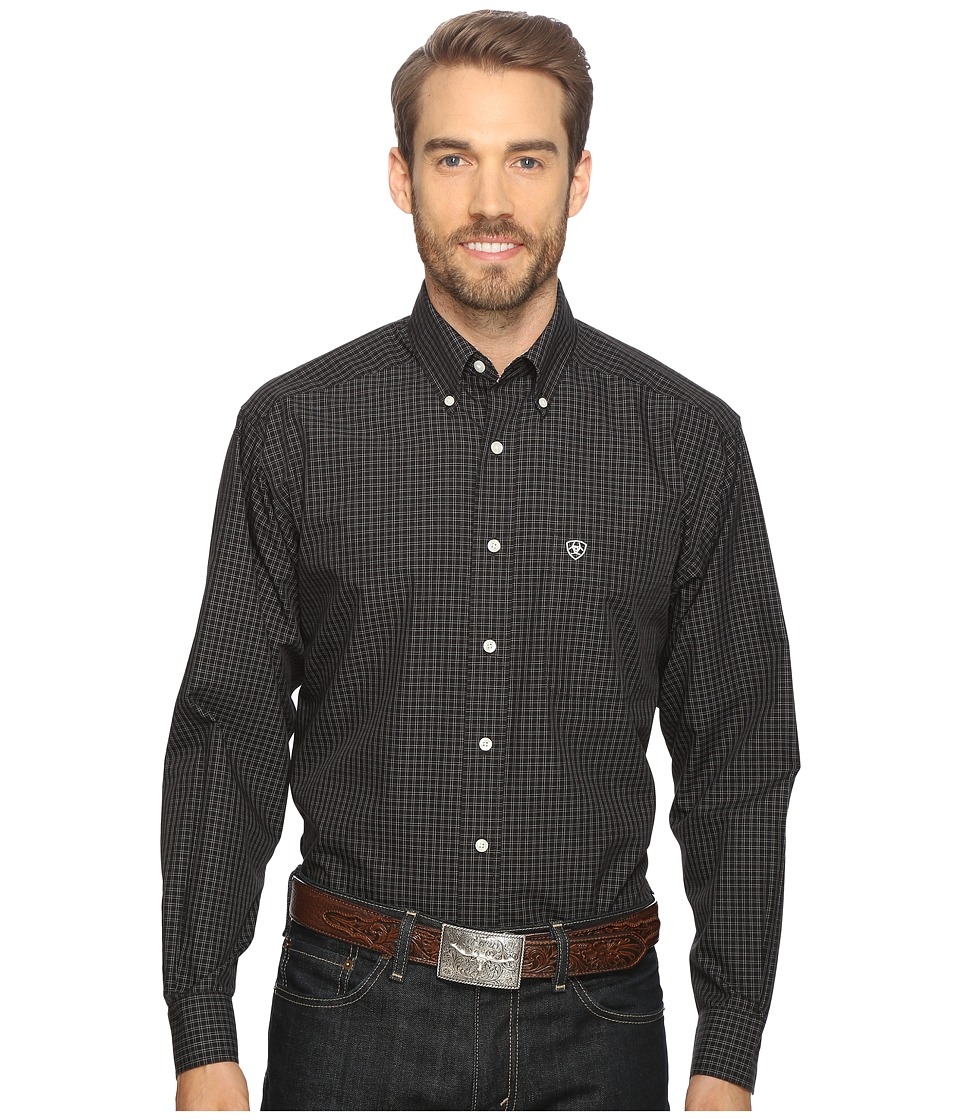 Ariat - Quade Shirt (Black) Men's Long Sleeve Button Up