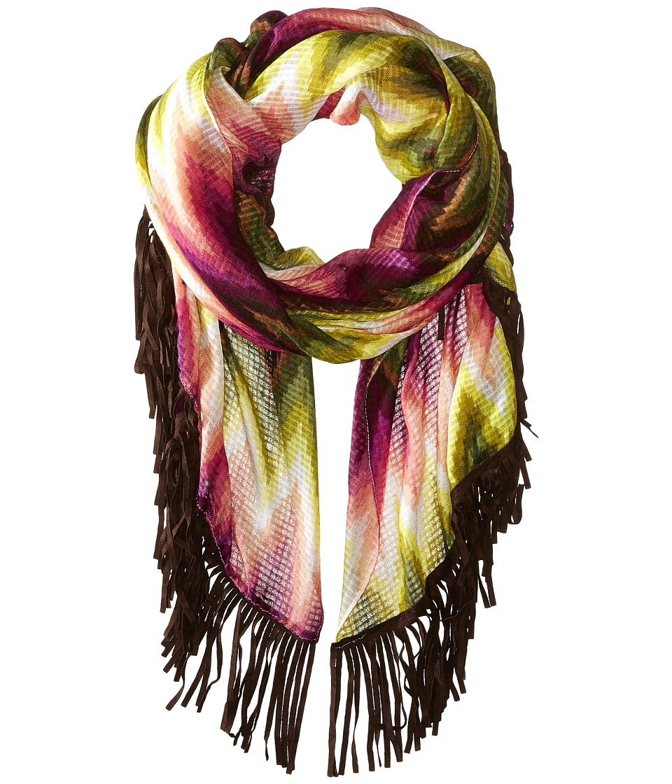 Steve Madden - Gradient Chevron Day Wrap (Fuchsia) Scarves