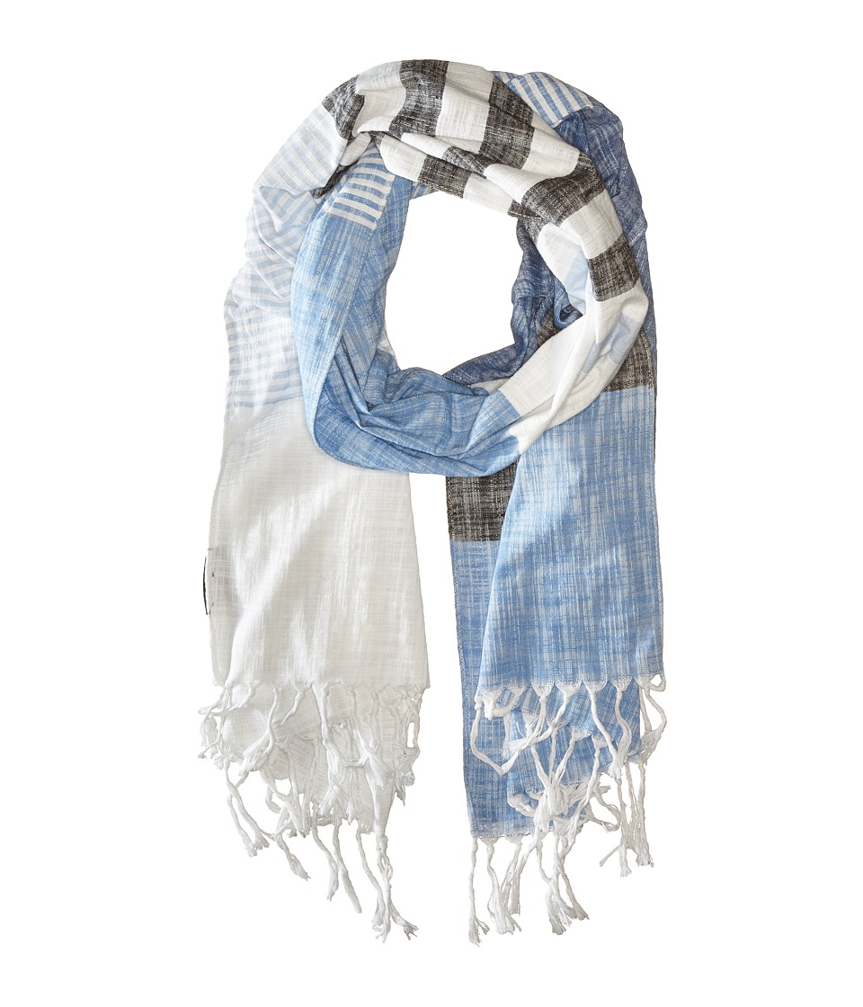 Steve Madden - Chambray Stripe Day Wrap (Denim) Scarves