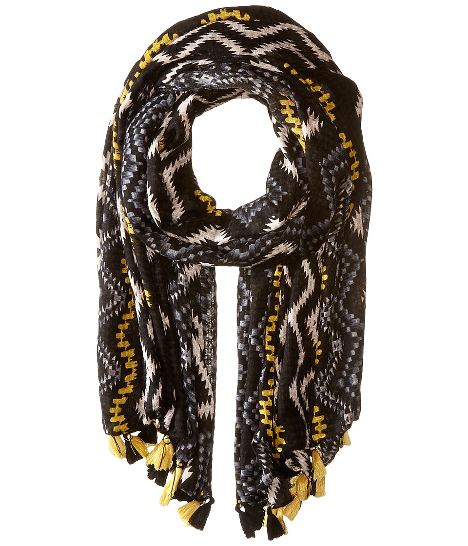 Steve Madden - Vertical Zigzag Day Wrap (Neutral) Scarves