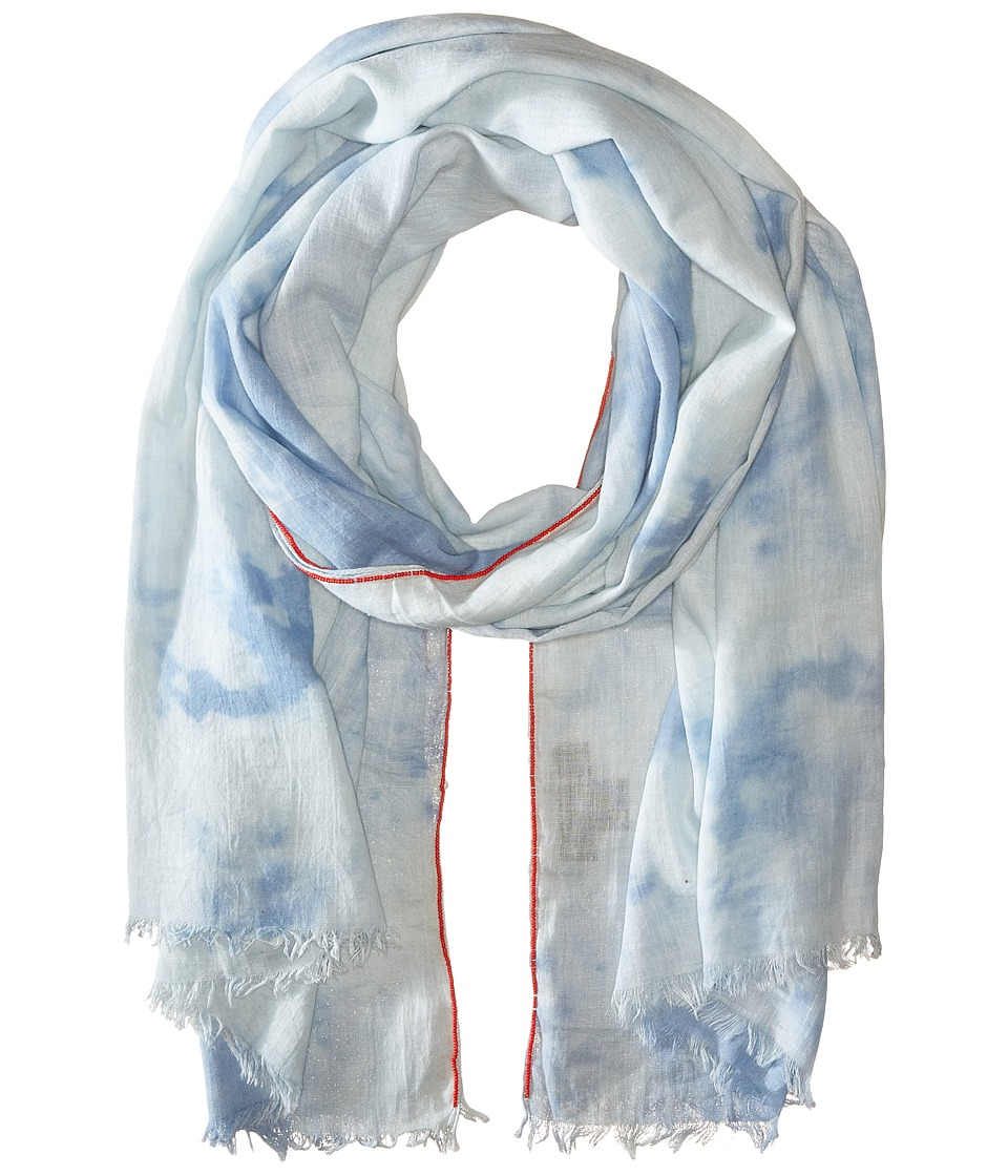 Steve Madden - Tie-Dye Denim Day Wrap (Denim) Scarves