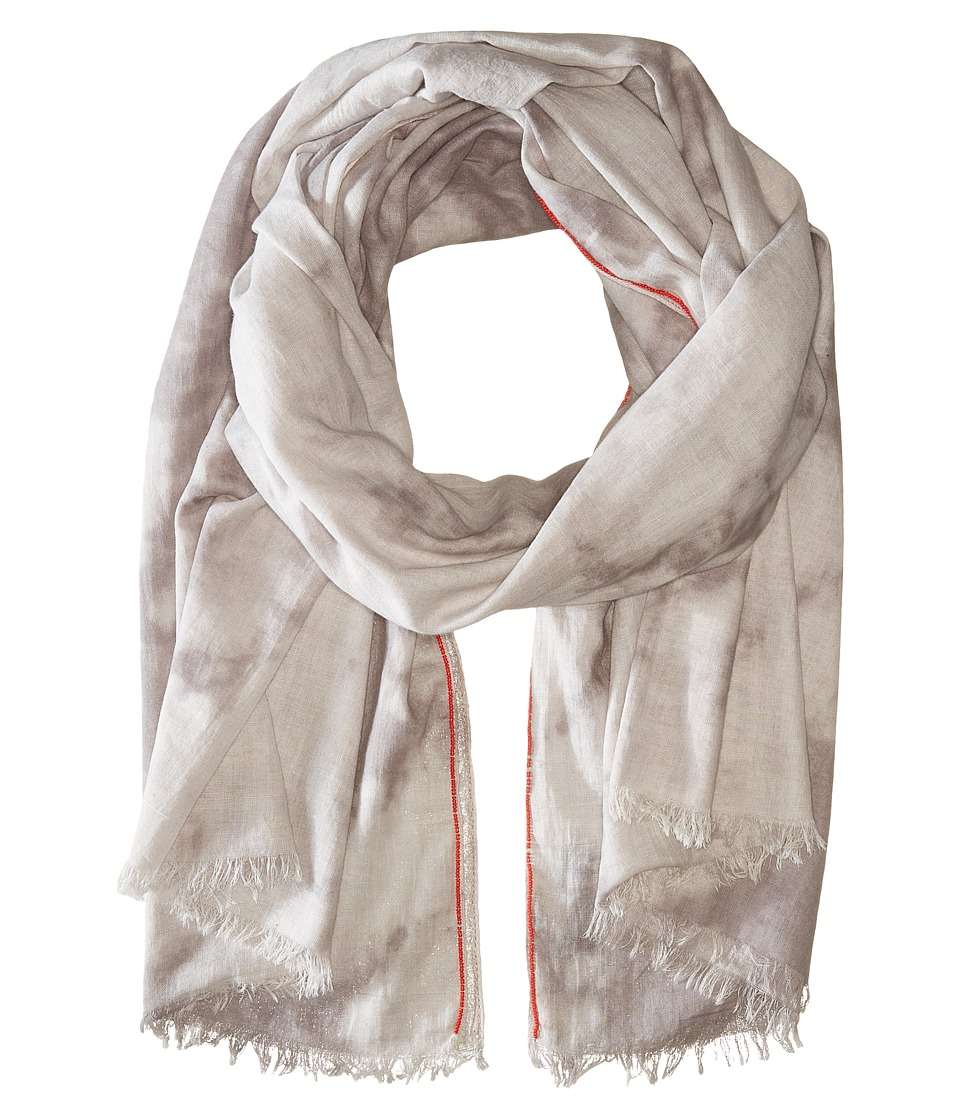 Steve Madden - Tie-Dye Denim Day Wrap (Neutral) Scarves