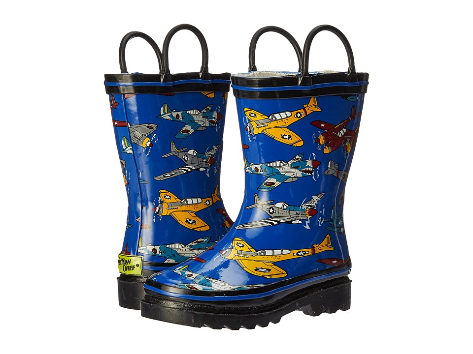 Western Chief Kids - Fighter Planes (Toddler/Little Kid) (Blue) Boys Shoes
