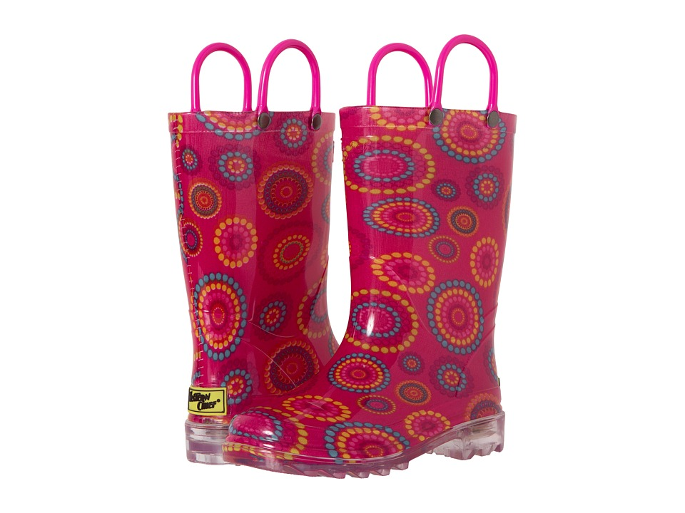 Western Chief Kids - Carnival Dots Lighted (Toddler/Little Kid) (Pink) Girls Shoes