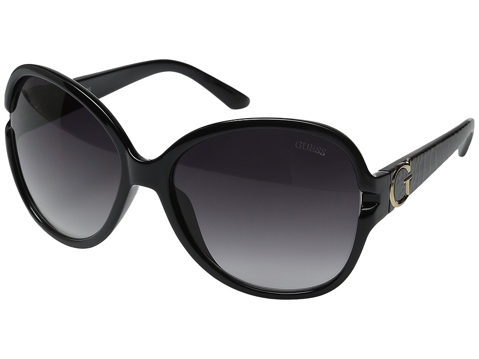 GUESS - GF0266 (Black/Smoke Gradient Lens) Fashion Sunglasses