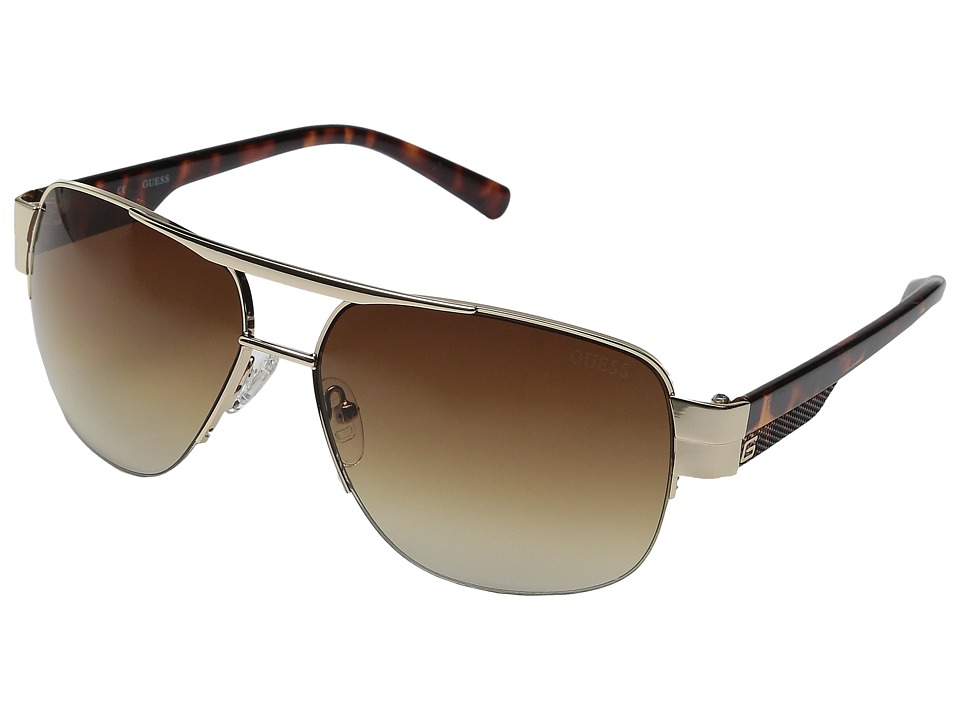 GUESS - GU0126F (Gold/Brown Gradient Lens) Fashion Sunglasses