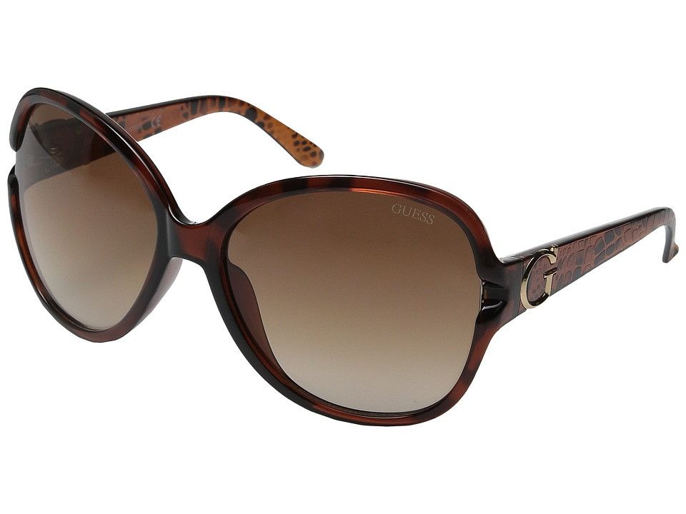 GUESS - GF0266 (Havana/Brown Gradient Lens) Fashion Sunglasses