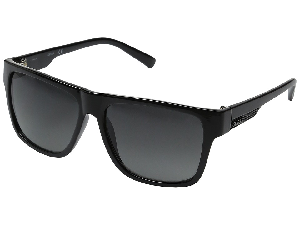 GUESS - GU0123F (Black/Smoke Gradient Lens) Fashion Sunglasses