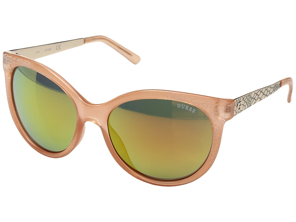 GUESS - GF0263 (Milky Pink/Brown Mirror Lens) Fashion Sunglasses