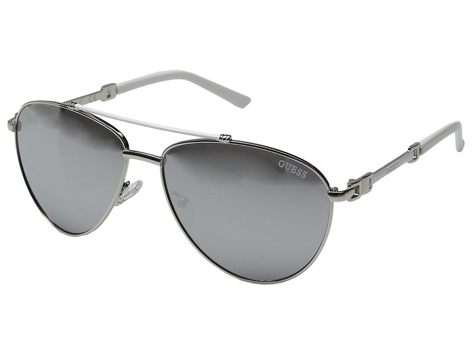 GUESS - GF0292 (Silver/Smoke Mirror Lens) Fashion Sunglasses
