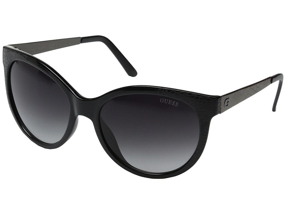 GUESS - GF0263 (Black/Smoke Gradient Lens) Fashion Sunglasses