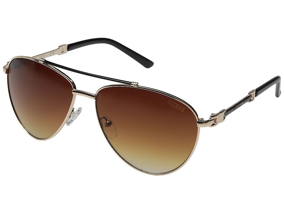 GUESS - GF0292 (Gold/Brown Gradient Lens) Fashion Sunglasses
