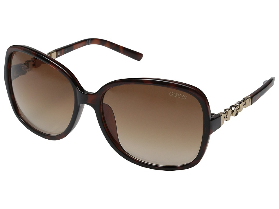 GUESS - GF0264 (Havana/Brown Gradient Lens) Fashion Sunglasses
