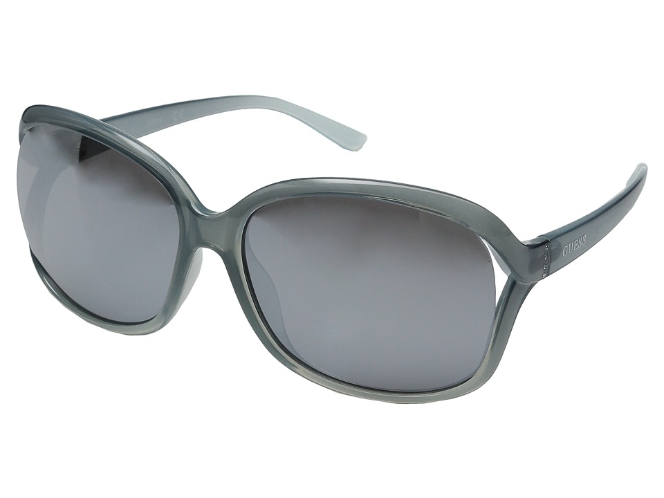 GUESS - GF0286 (Light Blue/Smoke Mirror Lens) Fashion Sunglasses