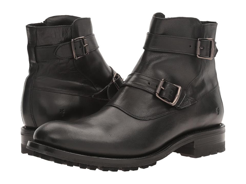 Frye - Stanton Moto (Black Tumbled Full Grain) Men's Boots