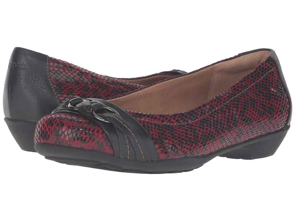 Comfortiva - Posie - Soft Spots (Merlot/Black) Women's Slip on Shoes