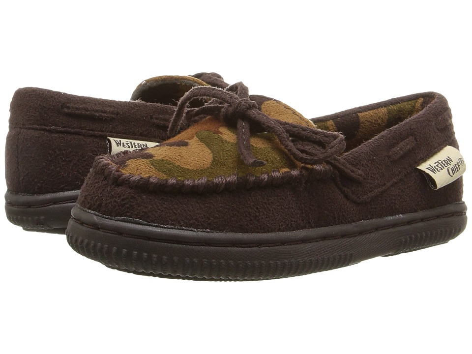 Western Chief Kids - Largo Camo (Toddler/Little Kid) (Chocolate) Boys Shoes