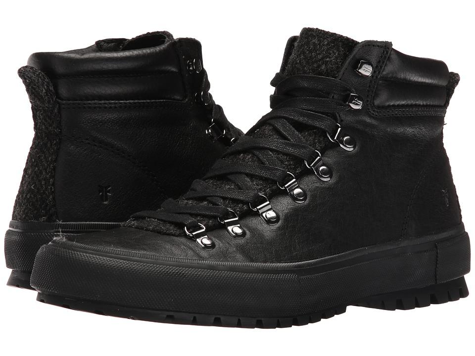 Frye - Ryan Lug Hiker (Black Tumbled Full Grain/Tweed) Men's Lace up casual Shoes