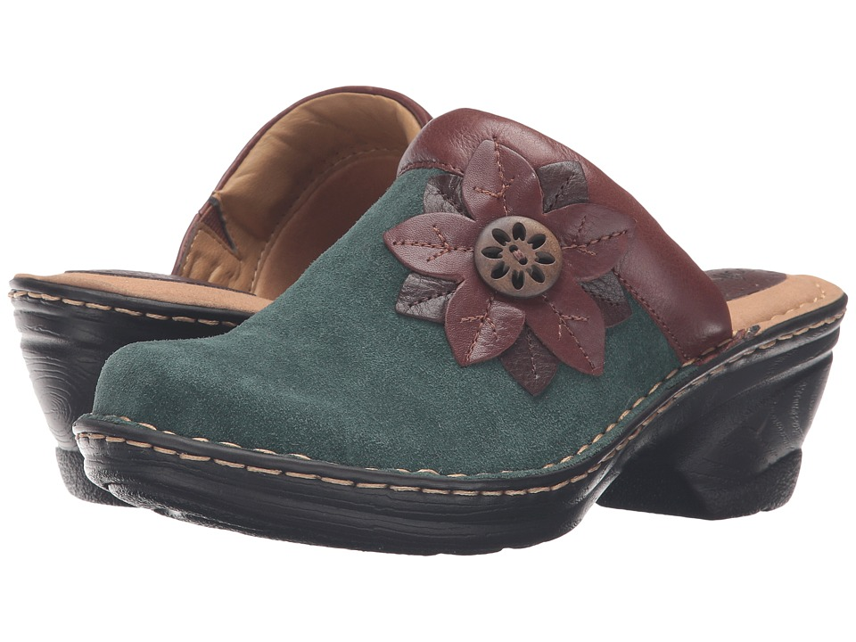 Comfortiva - Lara (Hunter Green/Sturdy Brown/Mahogany) Women's Clog Shoes