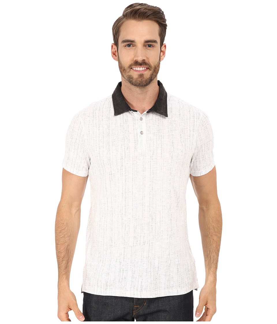 Calvin Klein Jeans - Slub Jersey Digit Dot Polo (White) Men's Short Sleeve Pullover