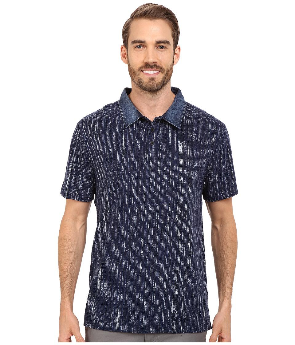 Calvin Klein Jeans - Slub Jersey Digit Dot Polo (Navy Armada) Men's Short Sleeve Pullover