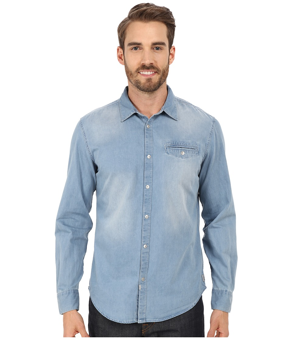 Calvin Klein Jeans - Long Sleeve Shirt (Light Bleu Wash) Men's Long Sleeve Button Up