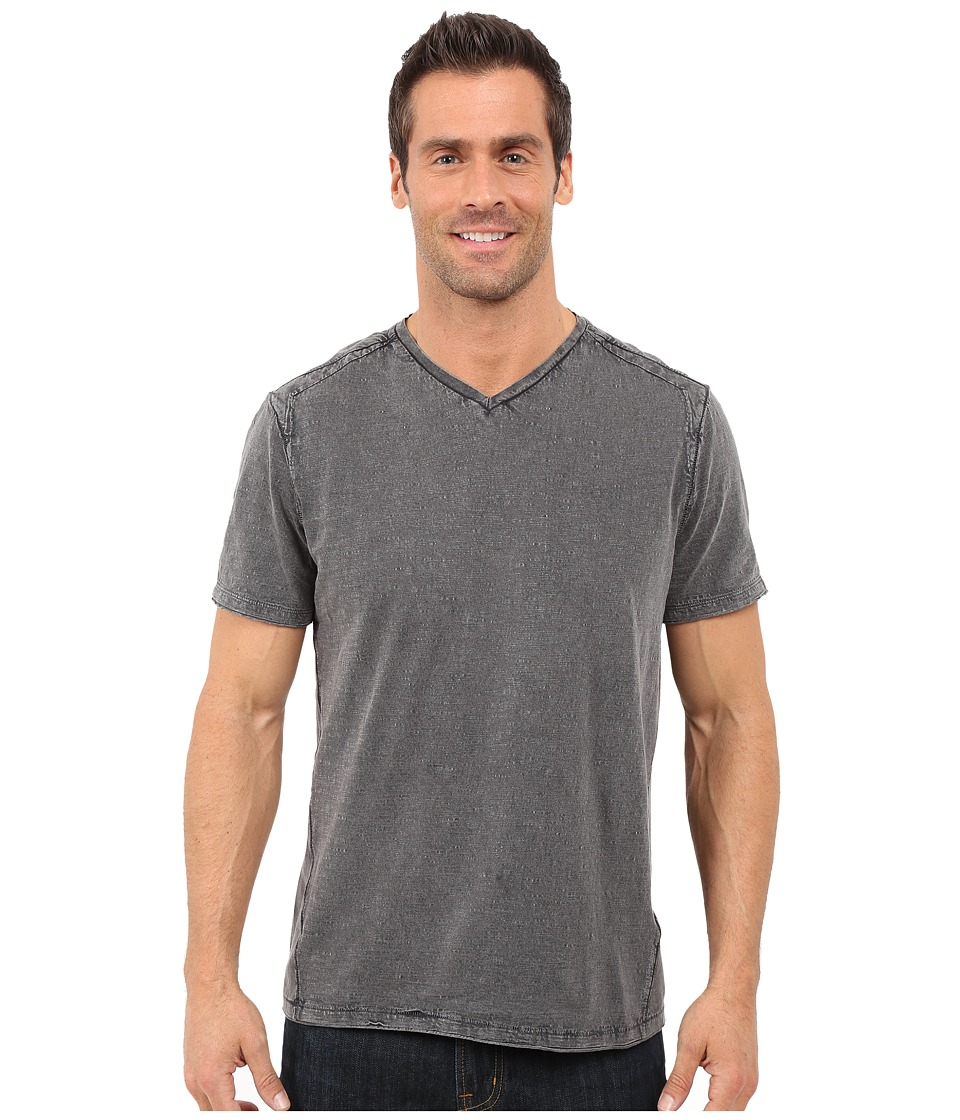 Calvin Klein Jeans - Acid Wash Jersey Slub V-Neck T-Shirt (Smoked Pearl) Men's T Shirt