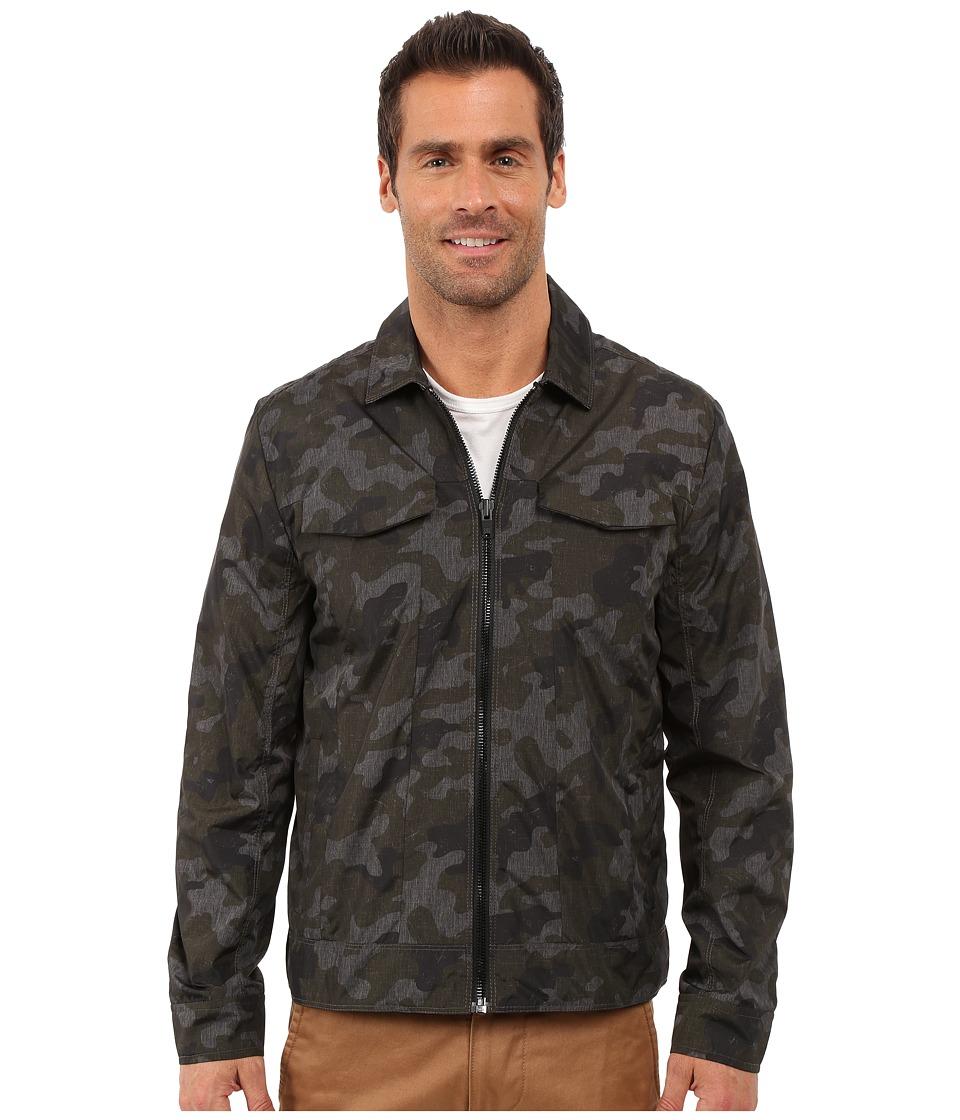 Calvin Klein Jeans - Zip-Front Trucker Camo Jacket (Black) Men's Coat