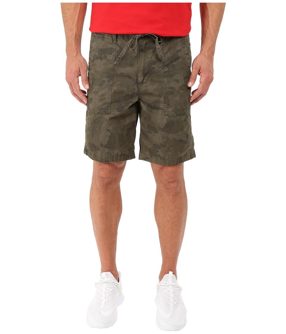 Calvin Klein Jeans - Camo Poplin Shorts (Olive Night) Men's Shorts