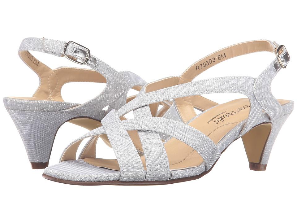Rose Petals - Lassie (Silver Sparkle Fabric) Women's Shoes